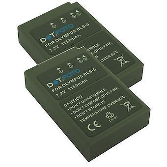 2 x Dot.Foto Olympus BLS-5, BLS-50 nowa bateria - akumulator 7.2V / 1150mAh
