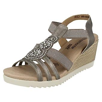 Ladies Remonte Wedge Heeled Sandals D3453