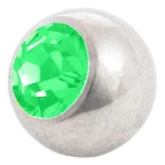 Piercing Replacement Ball, Green Stone | 1,2 x 3 and 4 mm, Body Jewellery