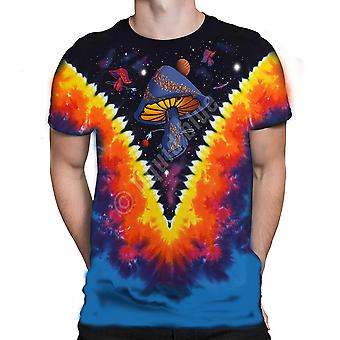 Liquid Blue - SPACE SHROOMS - Short Sleeve Tie Dyed T-Shirt .