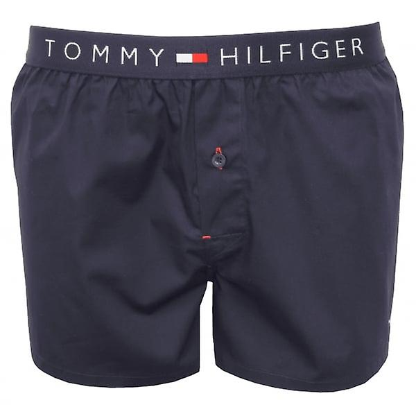 tommy hilfiger woven cotton boxer shorts navy fruugo. Black Bedroom Furniture Sets. Home Design Ideas