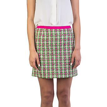 Miu Miu Women's Cotton Blend Tweed Skirt Green