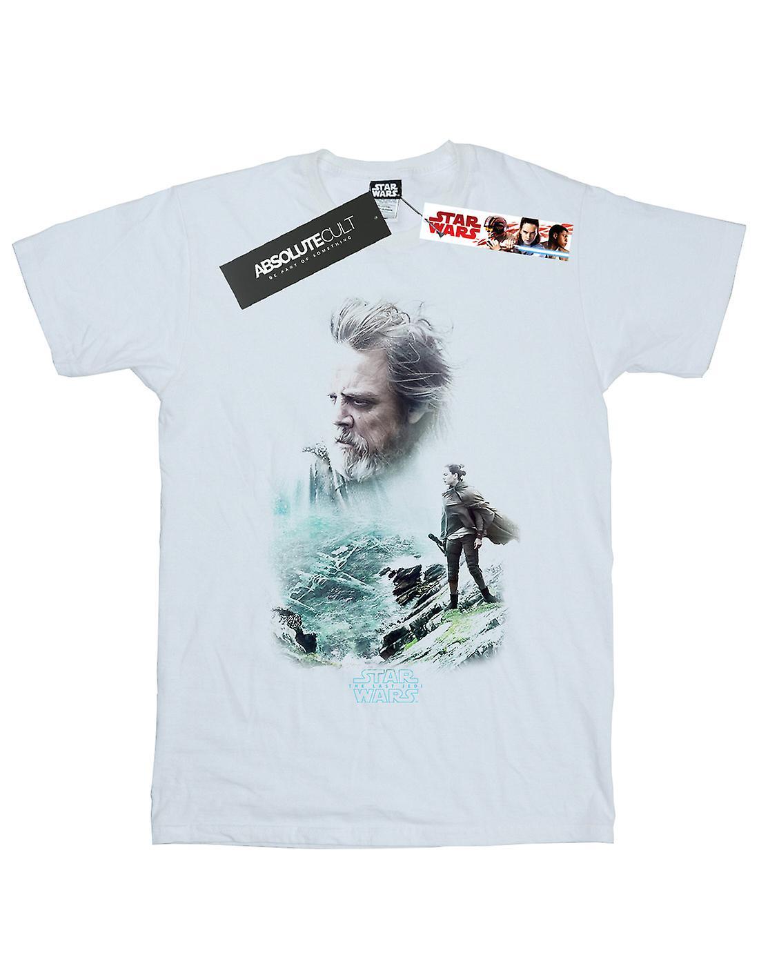 Filles de Star Wars les derniers Jedi Luke et Rey T-Shirt