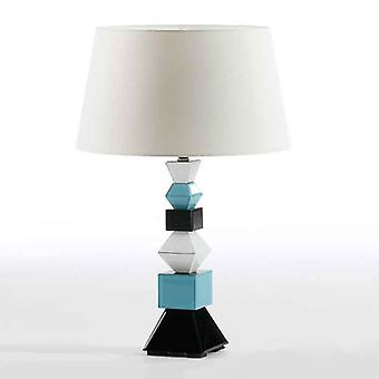 Wellindal Desk Lamp 15x15x51 Crystal Black and Blue and White Without Screen