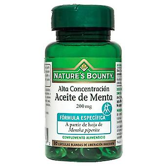 Nature's Bounty Peppermint Oil Softgels 200 Mg 60