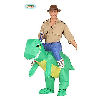 Dino Piggyback rider Dino costume inflatable with motor piggyback costume