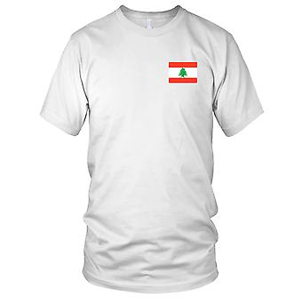 Libanon land nationale Flag - broderet Logo - 100% bomuld T-Shirt damer T Shirt