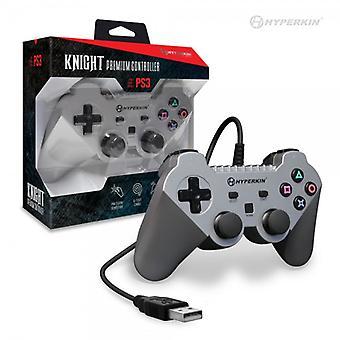 "PS3 ""Knight"" Premium Controller (Silver) - Hyperkin"