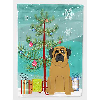 Merry Christmas Tree Mastiff Flag Canvas House Size