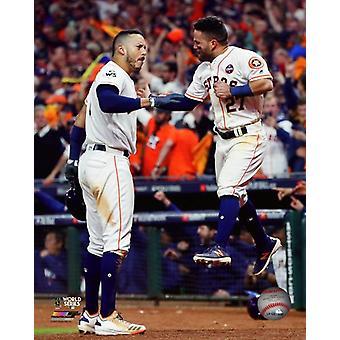 Carlos Correa & Jose Altuve Game 5 of the 2017 World Series Photo Print