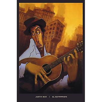 El Guitarrista Poster Print by Justin Bua (24 x 36)
