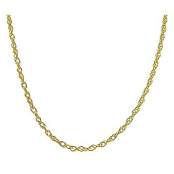 14k Fine Gold Ultra Thin Delicate Carded Rope Chain Necklace