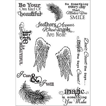 Debbi Moore Life Quotes A5 Stamp Sheet-Inspiration 1 DMNS038