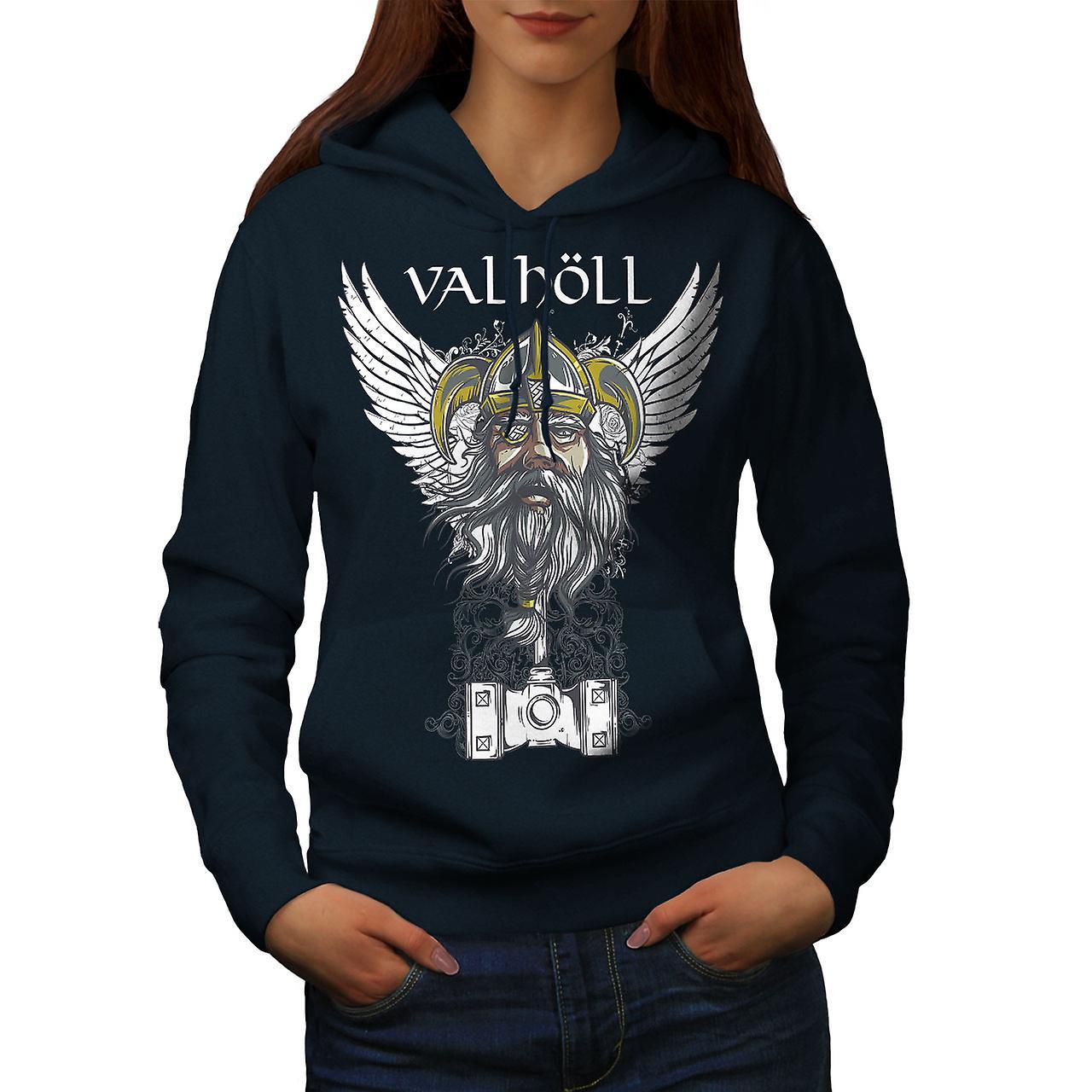 Valholl North War Women NavyHoodie | Wellcoda