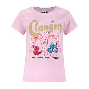 Clangers Childrens/Girls Official Glitter Characters T-Shirt