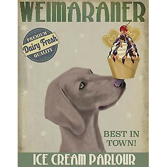 Weimarse staande hond ijs Poster Print by Fab, Funky (13 x 19)