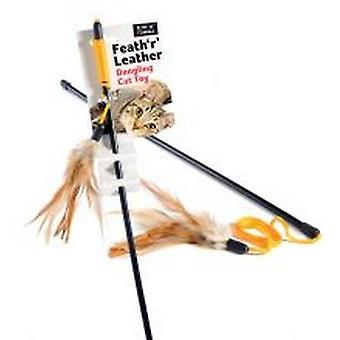 Sharples Ruff 'N' Tumble Feath 'R' Leather Cat Toy