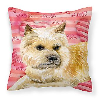 Carolines Treasures  BB9777PW1414 Cairn Terrier Love Fabric Decorative Pillow