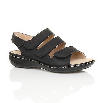 Ajvani Womens Keilhaken Ferse strappy niedrige & Schleife Slingback Komfort Sandalen