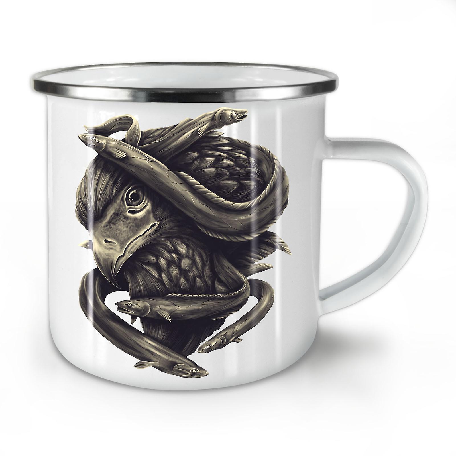 Mug10 Café Whitetea Fish Nouveau Animal OzWellcoda Eagle Head Émail yNwP8nm0vO