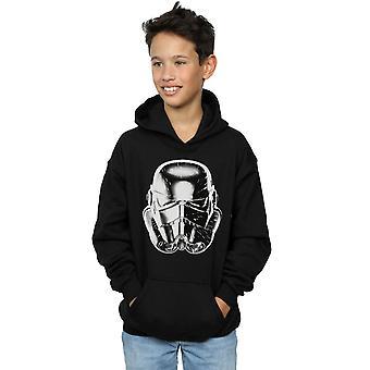 Star Wars pojkar Stormtrooper varp hastighet hjälm Hoodie