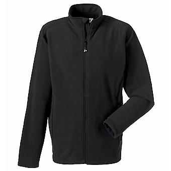 Russell Collection Full Zip monté micropolaire Mens Jacket Black, Navy XS