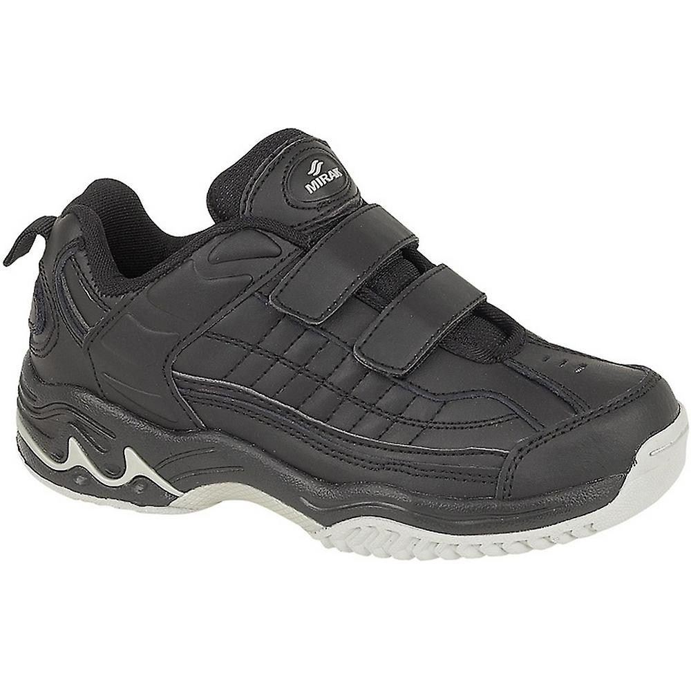 Mirak Mens Contender Padded Leather Sports Trainer Black (Large)