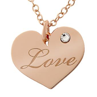 Orphelia Silver 925  Necklace With Charm Love Zirc  ZK-7187/RG