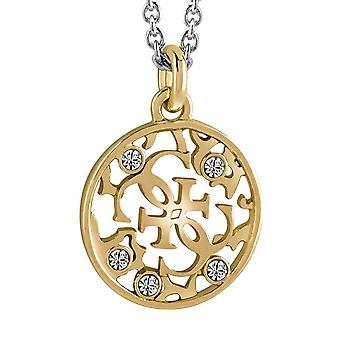 Угадать дамы ожерелье цепь двухцветной нержавеющей стали золото серебро UBN71519