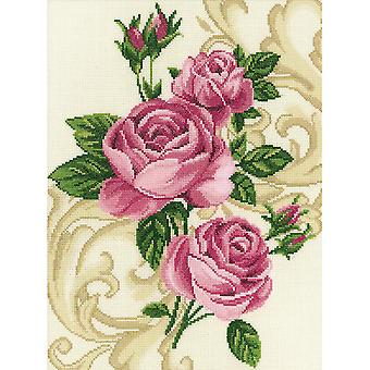Roses Counted Cross Stitch Kit-10.625