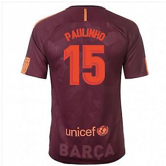 2017-18 Barcelona Nike Third Shirt (Paulinho 15)
