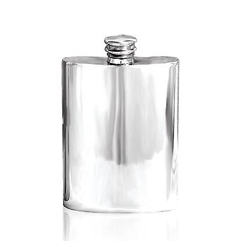 Plain Polished Pewter Hip Flask - 4oz