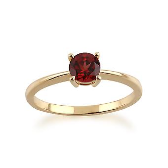 Gemondo 9ct Yellow Gold Mozambique Garnet Round Cut Single Stone Ring