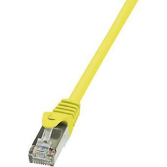 Retén de LogiLink RJ45 redes Cable CAT 6 F/UTP 3 m amarillo incl.