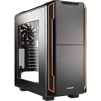 Midi tower Game console casing BeQuiet Silent Base 600 Window Orange, Black