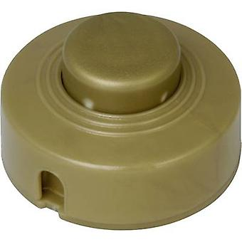 Kopp 191807084 Foot switch + strain relief Gold 1 x Off/On 2 A 1 pc(s)