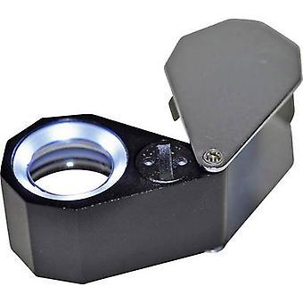 Jeweller's eyeglass incl. LED lighting Magnification: 10 x Lens size: (Ø) 21 m