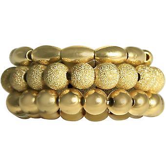 Gemshine - ladies - ring set - gold plated - STARDUST