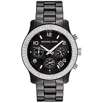 Michael Kors Watches Unisex Chronograph Black Ceramic Watch Mk5190