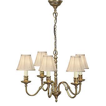 Interieurs 1900 Fitzroy 5 lamp Solid Brass slaapkamer kroonluchter