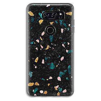 LG V30 Transparent Case (Soft) - Terrazzo N°10