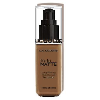 L.A. Colors Truly Matte Foundation Cappuccino (Makeup , Face , Foundation)