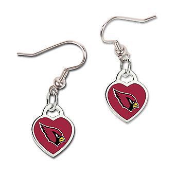 Wincraft ladies 3D heart earrings - NFL Arizona Cardinals
