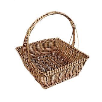 Square Fruit Wicker Basket