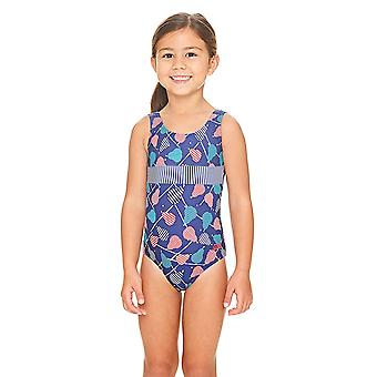Zoggs Pears Scoopback Swimsuit Navy/Multi
