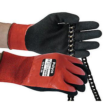 Polyco GIO/11 Grip It Oil Seamless Nylon Glove with Dual Nitrile Coating Size 11