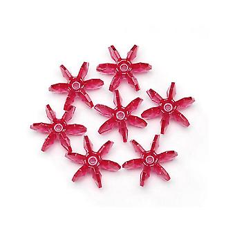 SALE - 1000 Crystal Red 10mm Starflake Beads for Kids Crafts