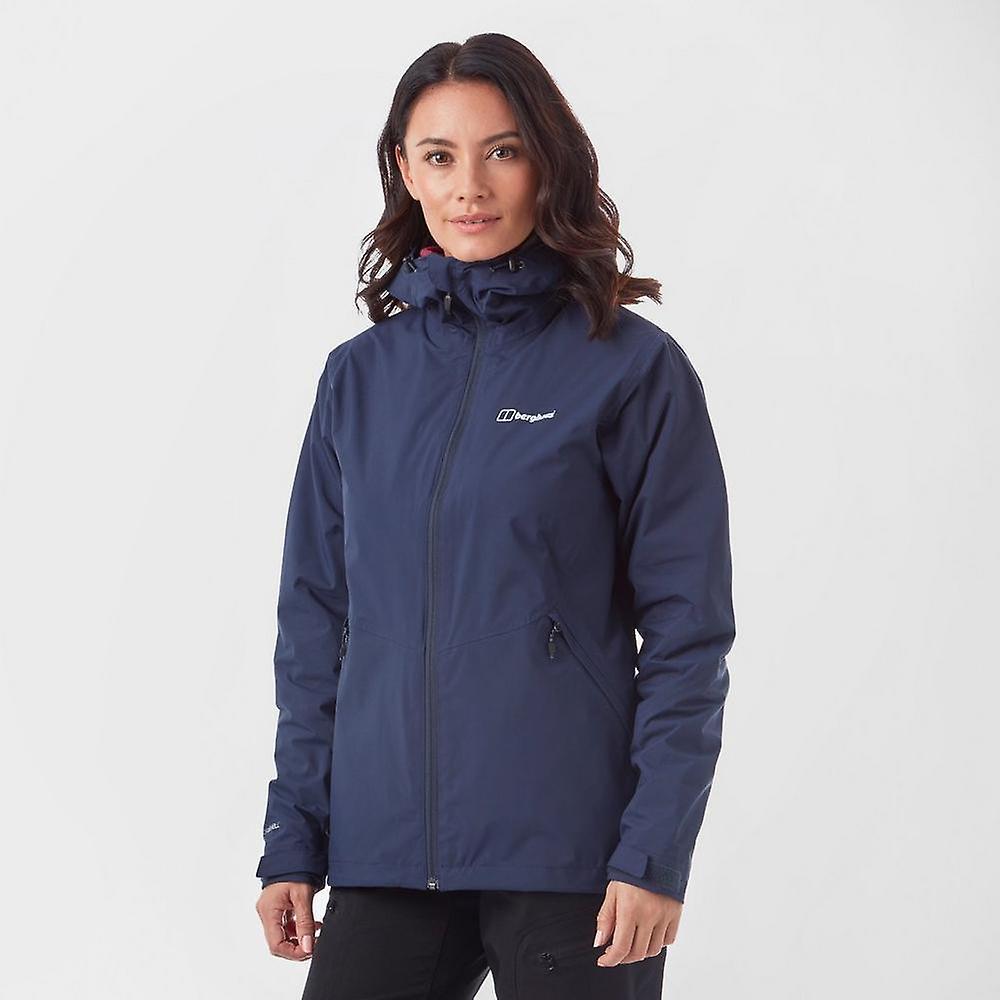 Nouveau Berghaus femmes&s Stormcloud Gemini Walking Hiking 3in1 Jacket Navy