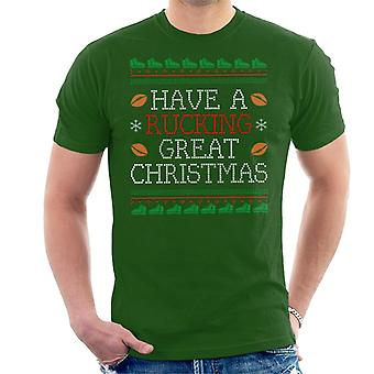 Rugby Have A Rucking Great Christmas Men's T-Shirt