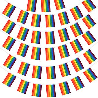 TRIXES 20 PC Regenbogen Fahne Wimpel Girlande zum Gay Pride